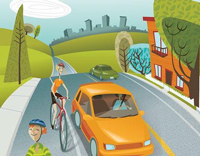 Illustration Transport