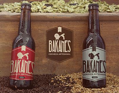 "Cerveza artesanal ""BAKANES"" identidad corporativa."
