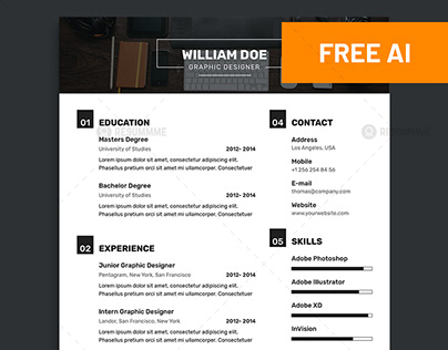 Free Musician Resume Template Download On Behance
