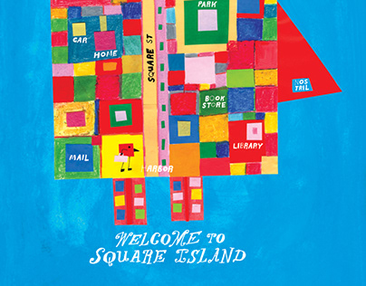 Welcome to Square Island for Illustoria Mag Issue 13