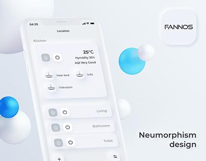 Fannos device controller neumorphism design