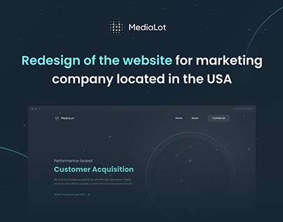 Medialot - Corporate website redesign