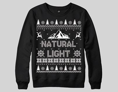Natural Light Ugly Christmas Sweater