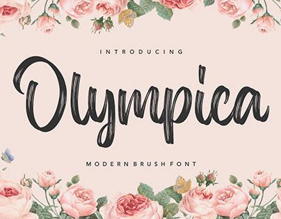 OLYMPICA MODERN BRUSH FONT