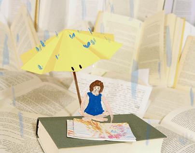 Tres paraguas