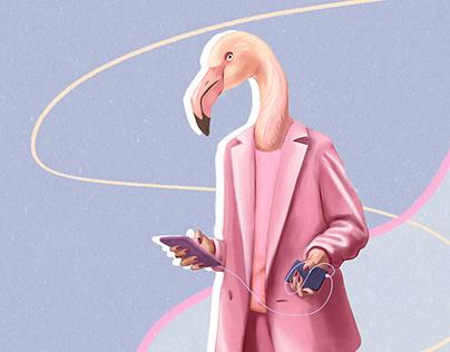 Fashionable birds