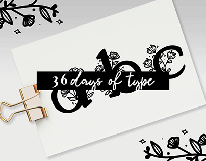36 days of type 2019 - Lettering
