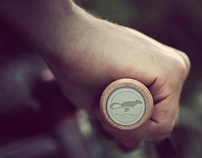 Dunstan. Wooden bicycle grips