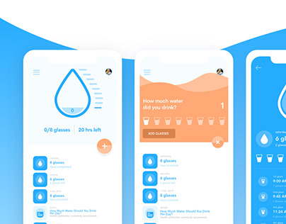 Water Tracker App Design