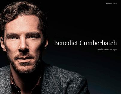 Benedict Cumberbatch — website concept