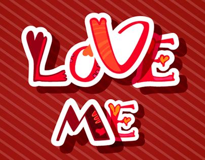 Decorative font with hearts. Love alphabet.