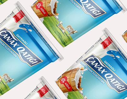 "Packaging design for yogurt ""Çanax Qatiği"""