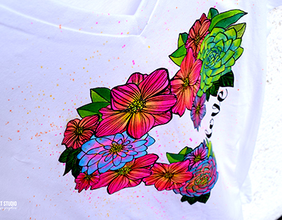 Painting the Coloring T-shirts DIY project (2016)