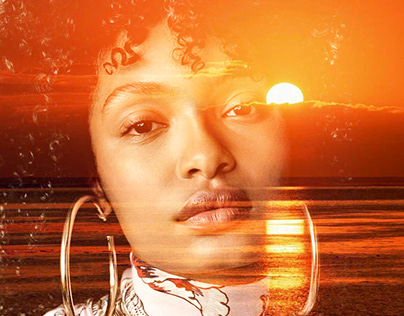 Yara Shahidi double exposure