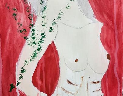Semi Nude in RED