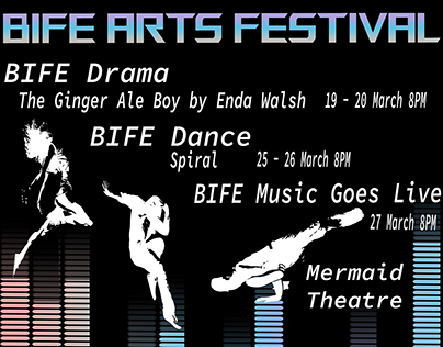 Bife arts festival poster and advertising