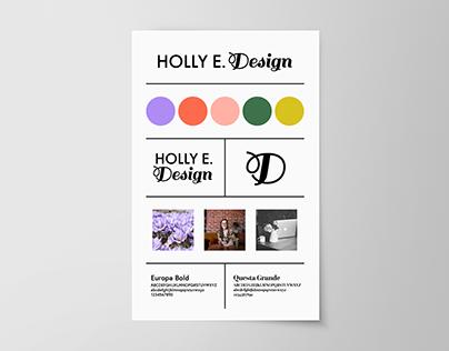 Holly E Design Brand Guide