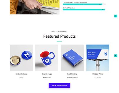 Print WordPress website | Ecommerce woocommerce
