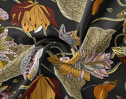 Lotus Pond Seamless Pattern