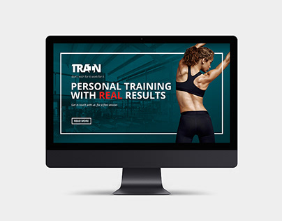 Personal training - Website concept