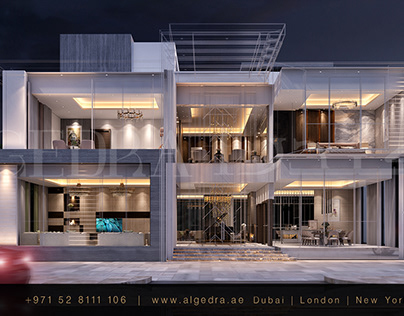 Luxury Exterior Villa Design by ALGEDRA