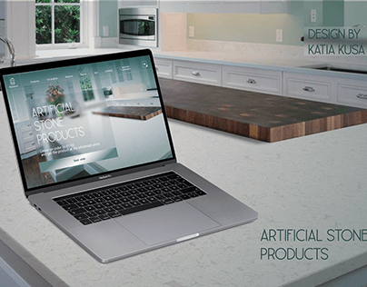 Artificial stone products  Landing page design