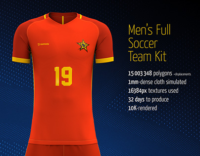 Men's Full Soccer Team Kit