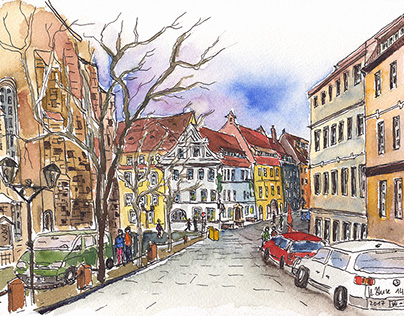 Pirna, At the Kirchplatz