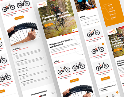 Branding & Webdesign bike shop VeloIn