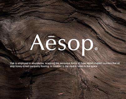 Aesop redesign website