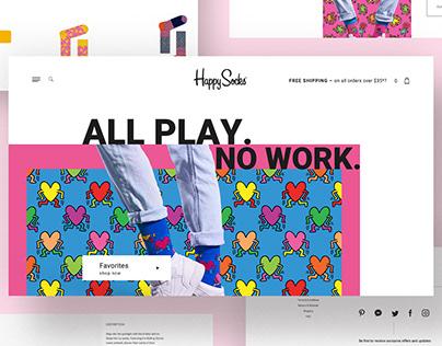 Happy Socks Website redesign