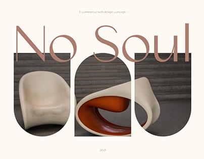 No Soul - E-Commerce Web Design Concept