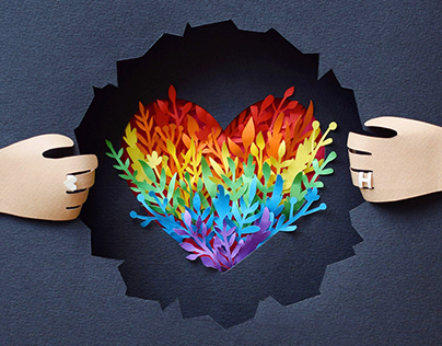 Coming Out Day | Paper art