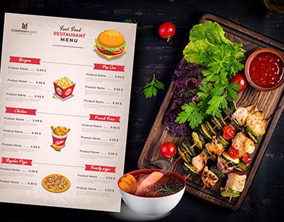 Restaurant/food menu design