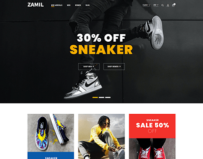 Modern eCommerce website design 2021