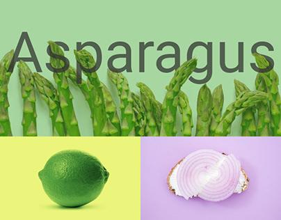 Website for a vegan restaurant Asparagus