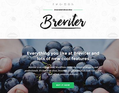 Breviter - free PSD theme for creative blogs