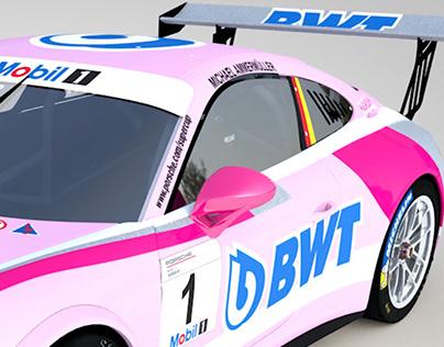 BWT Lechner Racing car livery design PMSC2018