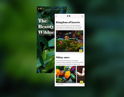 Light, nature themed app UI Design.