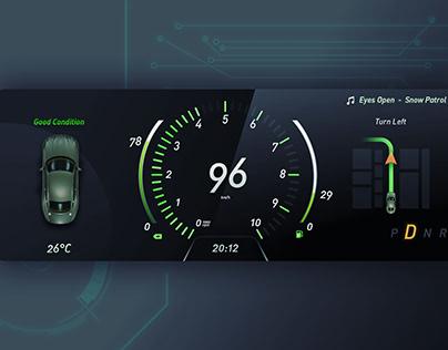 Daily UI Challenge 08 - Vehicle Dashboard