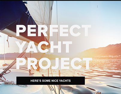 Perfect yacht project
