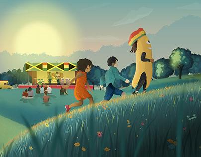 North Carolina Jamaican Jerk Festival Illustration