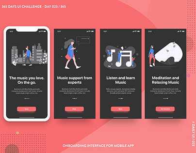 365 DAYS UI CHALLENGE | DAY 23 / 365 | Onboarding