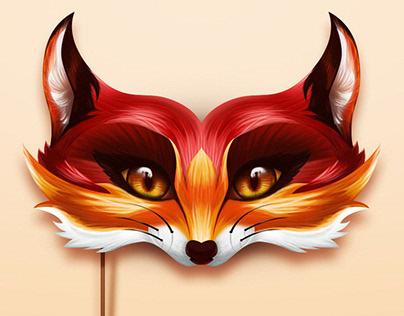 Fox Mask - Digital Colouring Technique