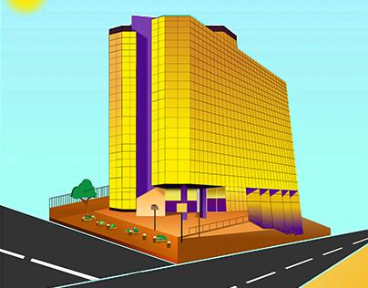 Isometric Nigeria landmark - Femi Johnson Ibadan