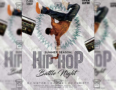 Hip Hop Battle Night - Club A5 Template