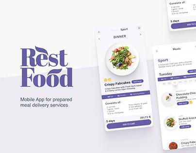 RestFood ∘ Food Delivery Mobile Application UI/UX