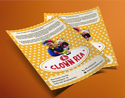CLOWN RIA - Flyer Design
