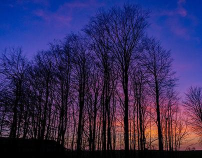 Solnedgang i Bredsten