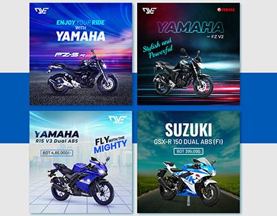 Bike Promotional Social Media post Design, Ecommerce